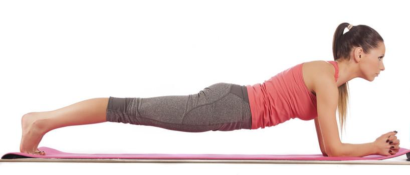 young beautiful girl yoga posing
