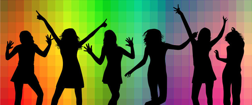 36275568 - dancing silhouettes
