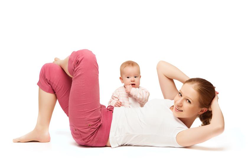 mother and baby gymnastics, yoga exercises