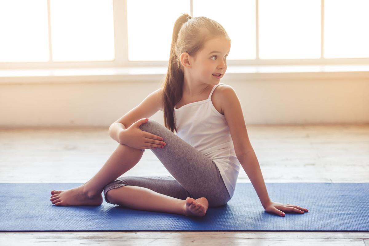 Little girl doing sport